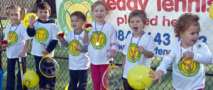 Teddy Tennis Cub Cadets having fun!