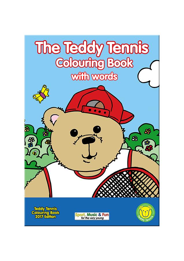 The Teddy Tennis Colouring Book